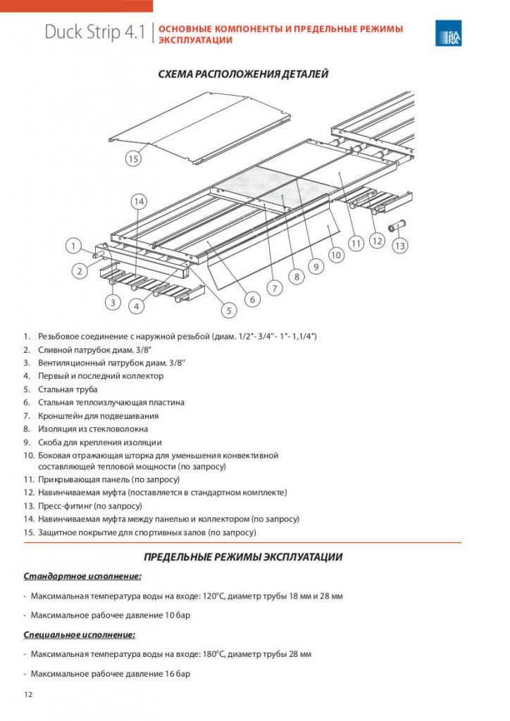 Переведенная и сверстанная страница каталога